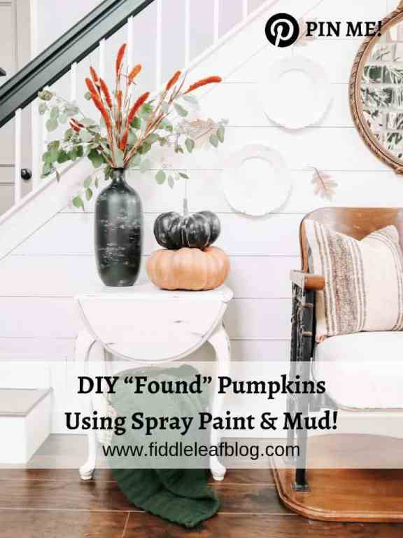 """how to make """"found"""" pumpkins using the mud paint technique"""