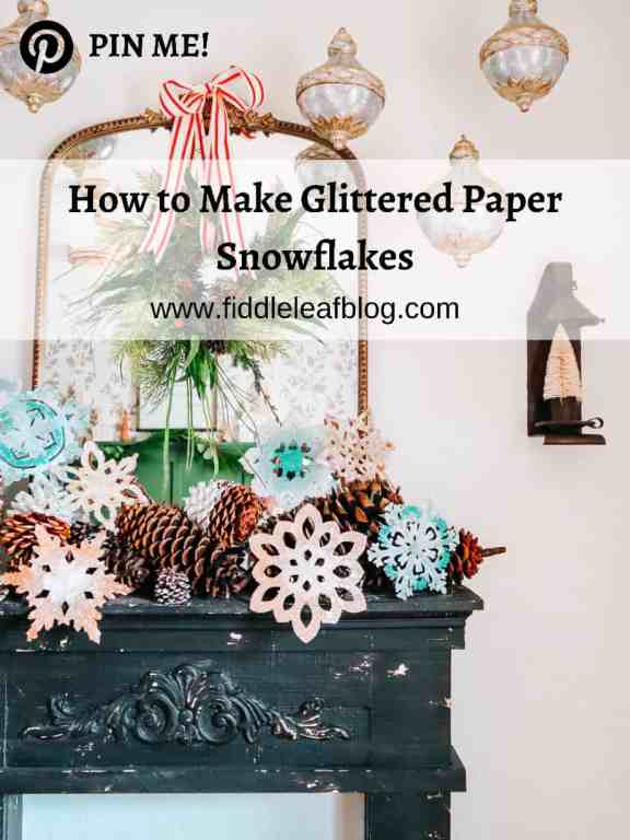 how to make glittered paper snowflakes