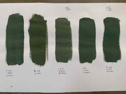 Mixing Annie Sloan Antibes Green, Olive, and Louis Blue