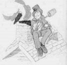 Fiddler On The Roof Chimney Sweep Logo