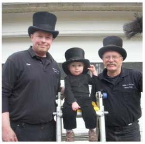 Don, Mason and Len 3 Generations of Chimney Sweepers