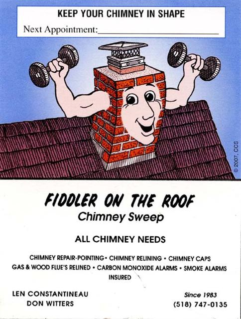 Service Areas Fiddler On The Roof Chimney Sweep
