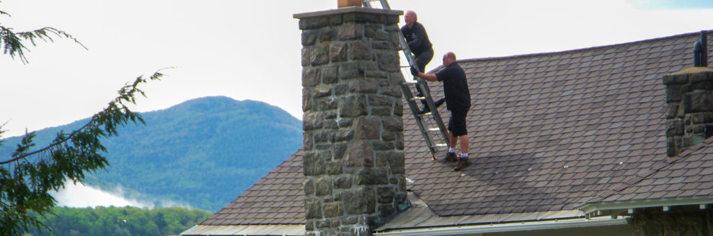 Don and Lenny Clean A Chimney In The Adirondacks