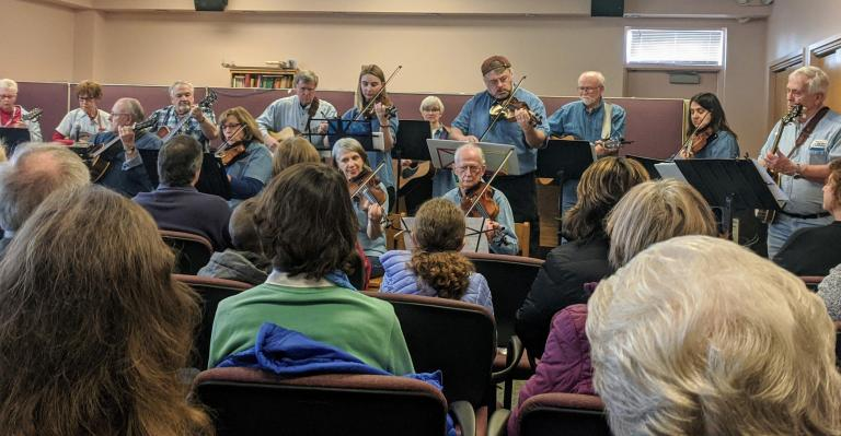 Overflow Crowd At Chili Library Enjoys Old Time Music