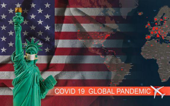 Baned travels quarantine global pandemic corona virus COVID-19 Coronavirus chinese infection of USA