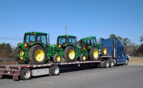 Shipping Tractors