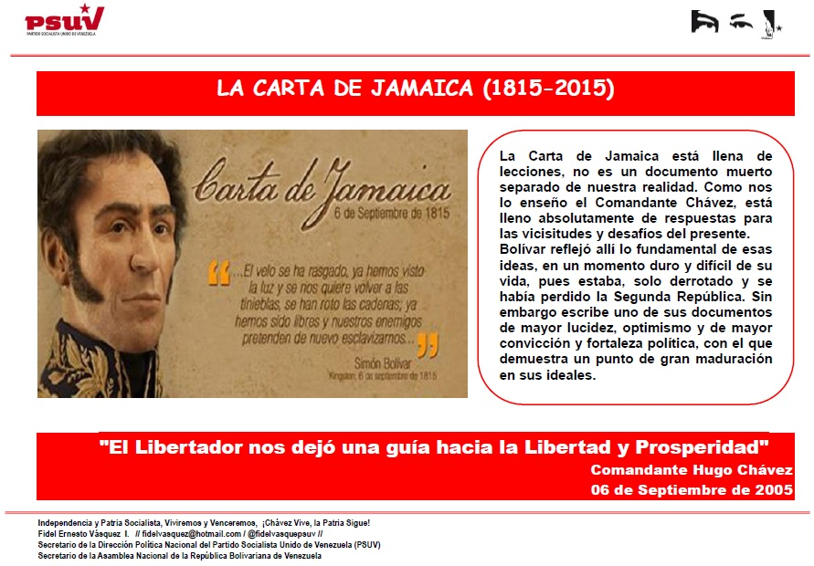 DESCARGAR DOCUMENTO LA CARTA DE JAMAICA 18152015