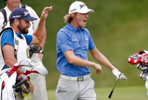 <> during the final round of the John Deere Classic held at TPC Deere Run on July 12, 2015 in Silvis, Illinois.