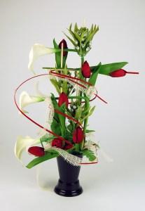 fleurs pierre tombale