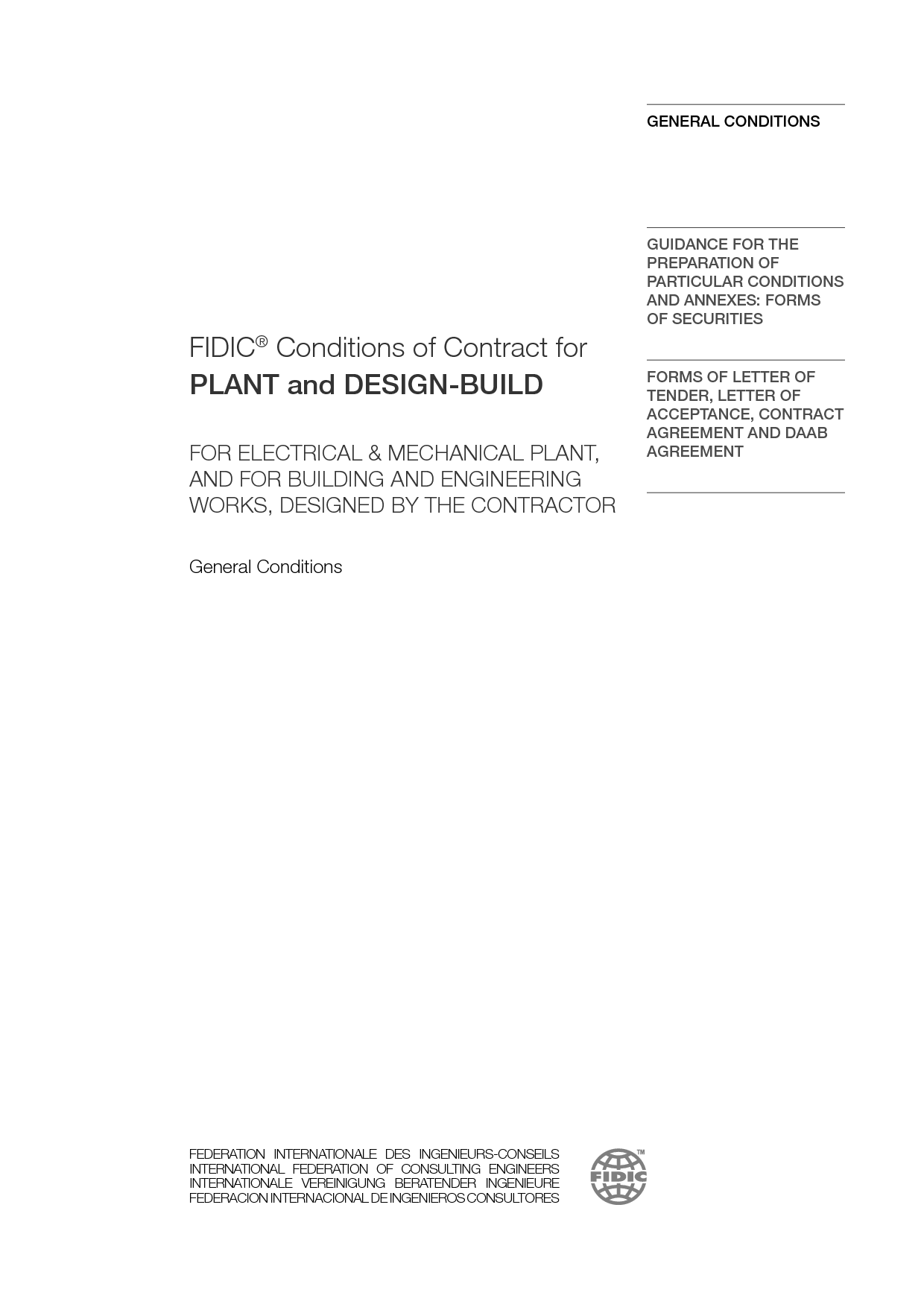 Plant and Design-Build Contract 2nd Ed (2017 Yellow Book