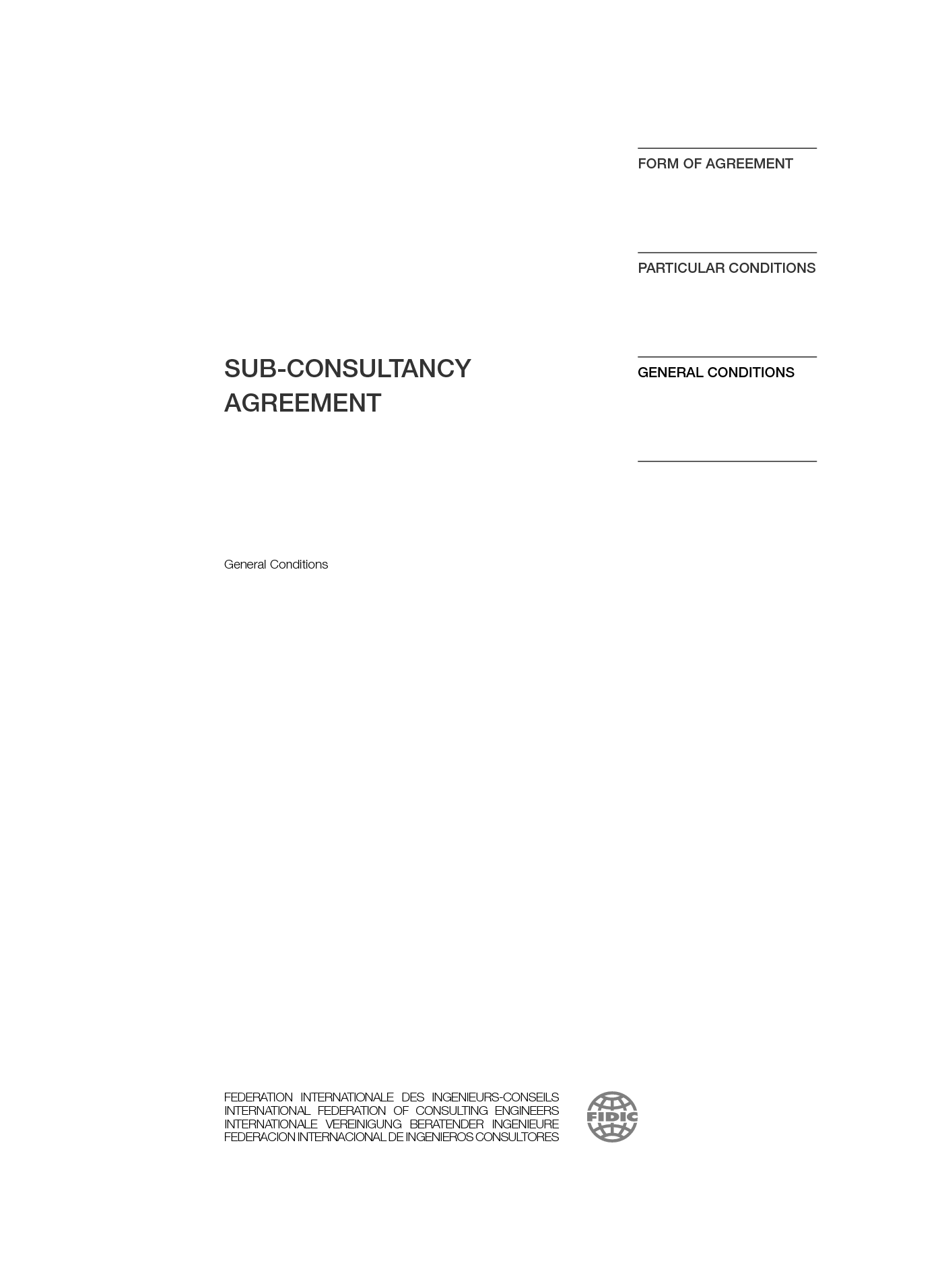 Sub-Consultancy Agreement 2nd Edition (2017) | International ...