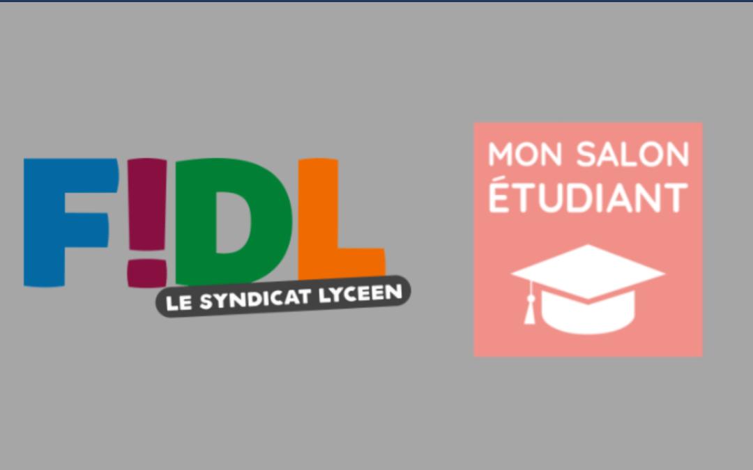 La FIDL et MonSalonEtudiant s'allient pour aider les jeunes pour leur avenir.