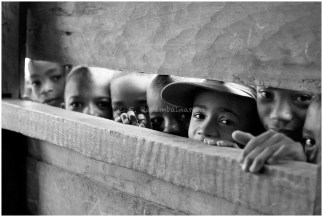 Curious kids from Madagascar