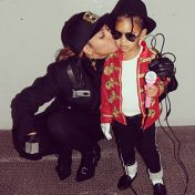 Beyonce and Blue Ivy as Janet and Michael Jackson
