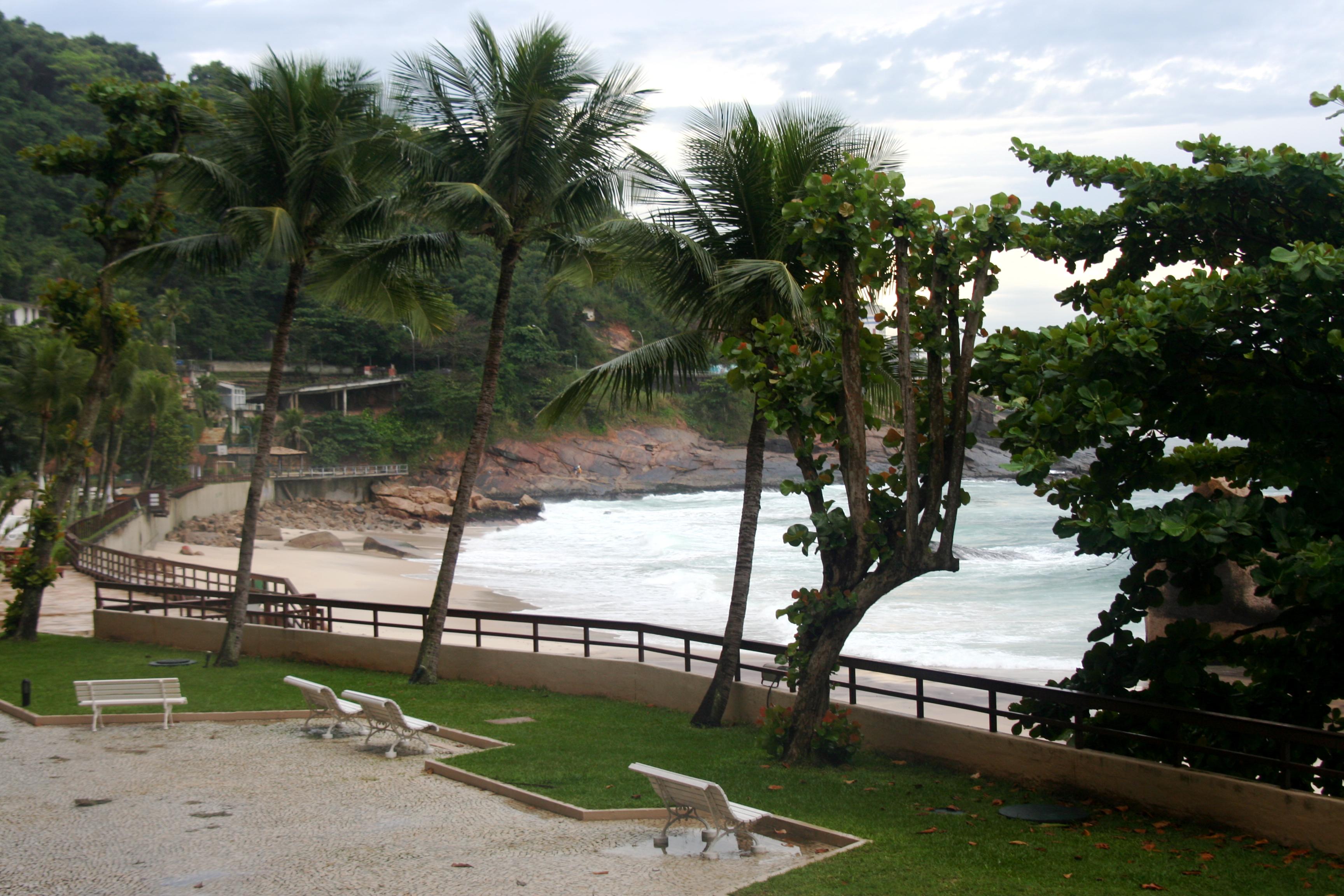 The beach outside the Sheritan Hotel, Rio de Janeiro