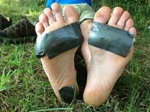 Tape for blisters
