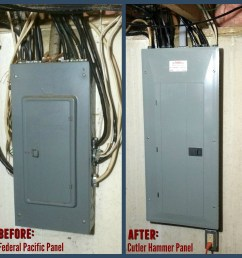 electrical panel upgrade our electrician replaced this 100 amp  [ 2000 x 2000 Pixel ]