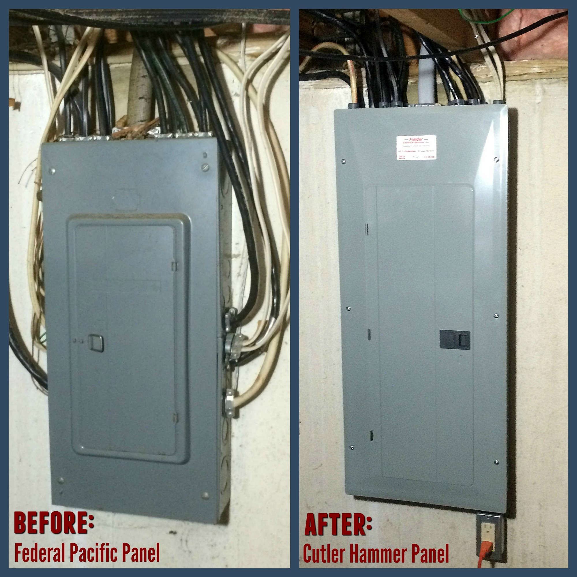 hight resolution of electrical panel upgrade our electrician replaced this 100 amp