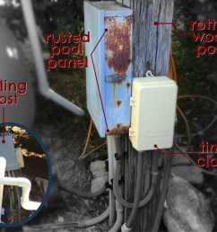 for this st louis area pool we were asked to replace the existing pool equipment the electrical subpanel for the pool had rusted as shown in the  [ 2250 x 1800 Pixel ]