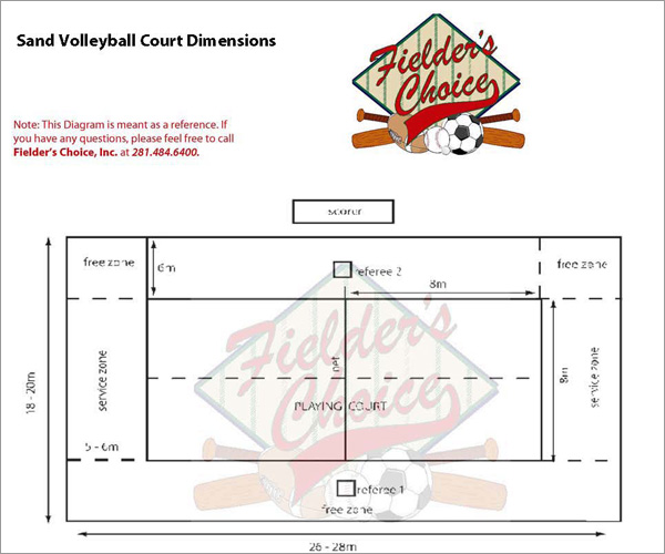beach volleyball court diagram cat 5 wiring pdf sand courts fielder s choice inc athletic field rules and regulations united states association