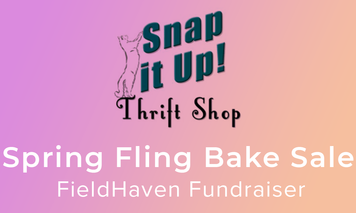 Snap It Up! Thrift Shop Spring Fling Bake Sale FieldHaven Fundraiser