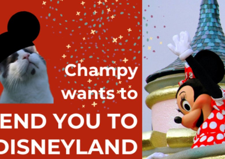Champy wants to send you to Disneyland.