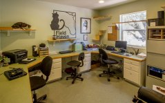 A view of FieldHaven Feline Center's main office.
