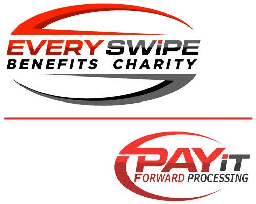 Every Swipe Benefits Charity. Pay it forward process.