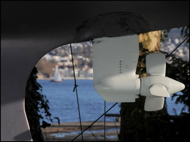Saildrive unit inspected during insurance survey of fin keel sailing yacht