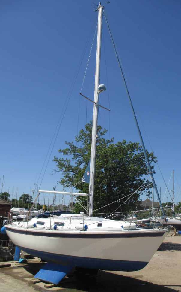Pre-purchase survey of Westerly Konsort at Marchwood Yacht Club, Hampshire