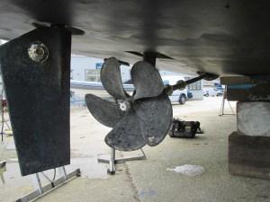 Five blade propeller of Greenline 40