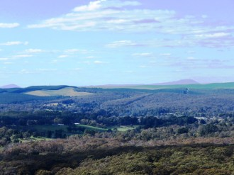 view to Mt Buninyong from Flagstaff Hill lookout