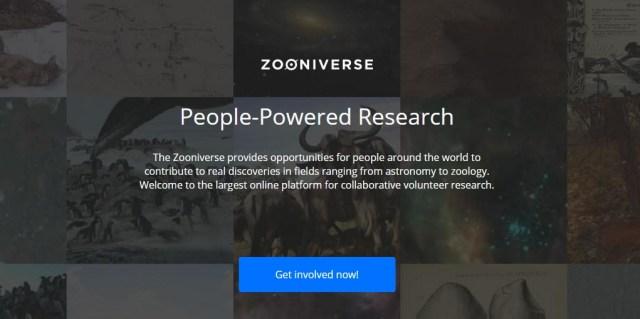 ZooniverseMainPage