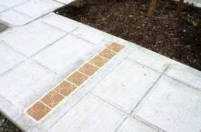 Convergence — Sidewalk tile strip
