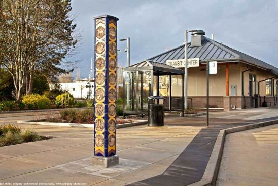 """""""Yamhill County Panorama"""" by Gregory Fields at the Yamhill Transit Center, McMinnville, Oregon"""