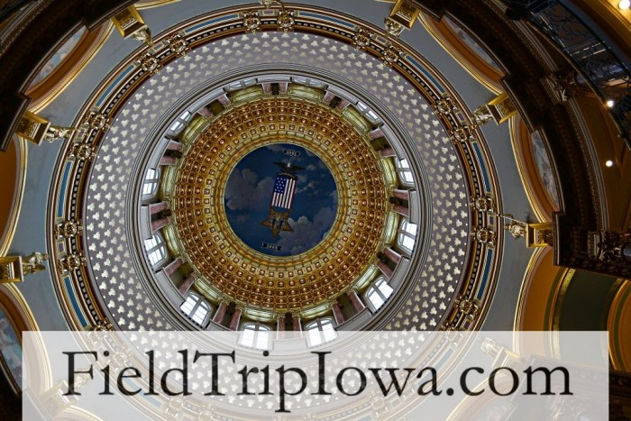 Iowa Capitol Dome - fieldtrip at the Iowa State Capitol