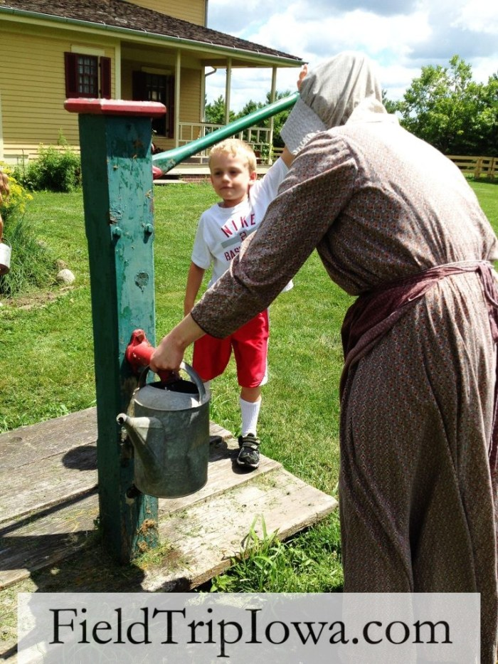 Living History Farms- pump the water