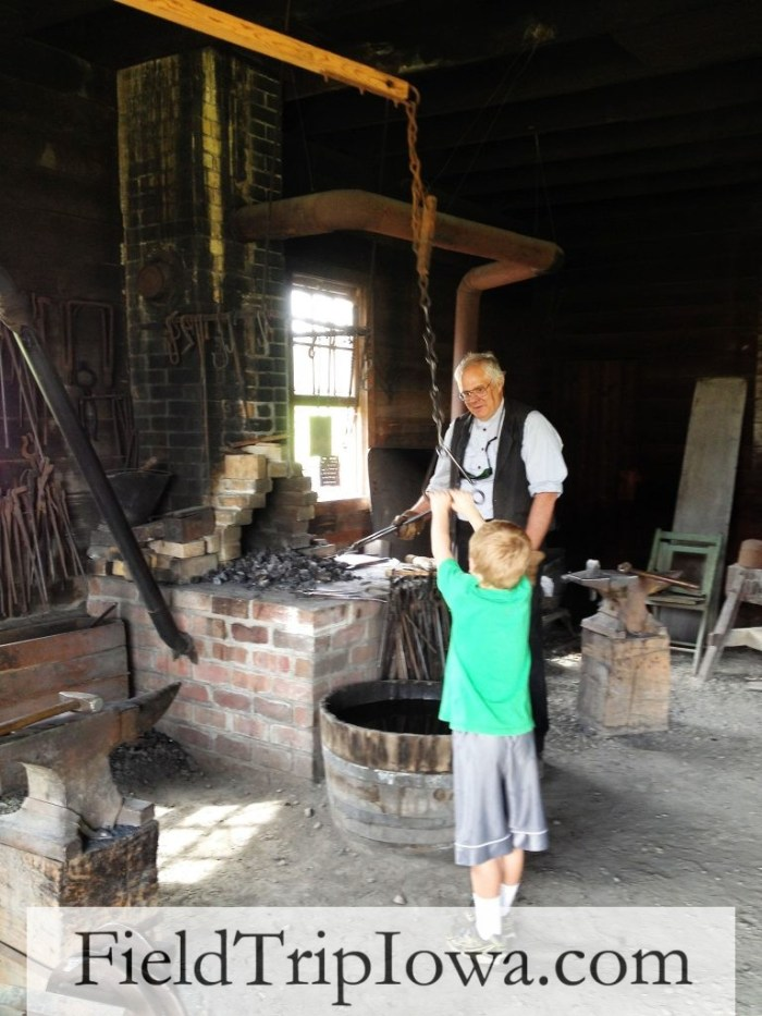 Living History Farms- the fire is HOT