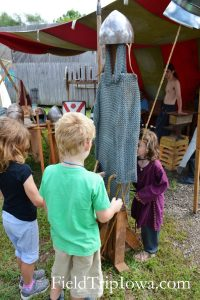 Children play at the Medieval & Renaissance Society at the Renaissance Faire at Sleepy Hollow