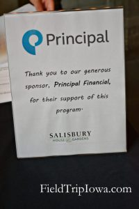 Salisbury House & Gardens sign thanking sponsor