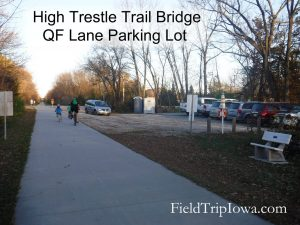 High Trestle Trail Bridge QF Lane parking lot