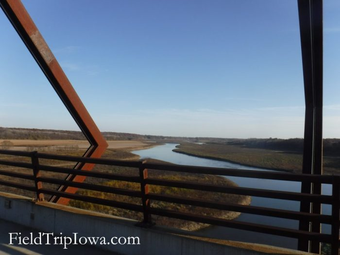 view of river on High Trestle Trail Bridge