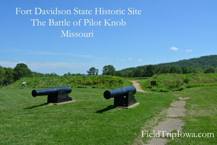 Canons in front of old Fort Davidson in Arcadia Valley Inronton Missouri