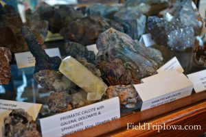 Rocks on display in a museum in Arcadia Valley Inronton Missouri