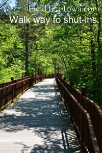 Paved walk way to the swimming area at Johnson's Shut-Ins State Park