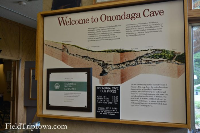 Map of Onondaga Cave State Park in Leasburg MO
