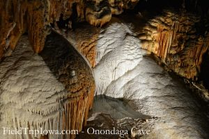 Rock formations at Onondaga Cave State Park in Leasburg MO