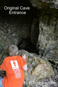 Original entrance to cave at Onondaga Cave State Park in Leasburg MO