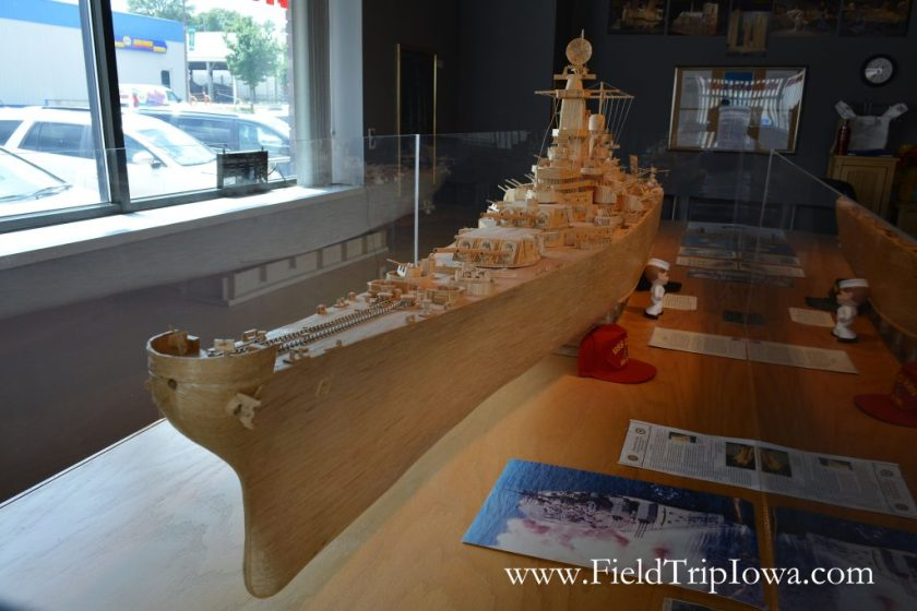 USS IOWA on display at Matchstick Marvels in Iowa