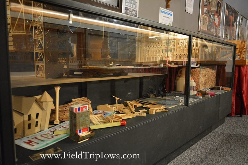 Display case at Matchstick Marvels in Iowa